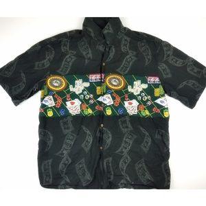 Pacific Legend Hawaiian Shirt Men's 2XL Poker Card